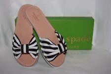 Kate Spade New York Indi Black/White Grosgrain  sandals Women's size 7 m
