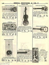 1982 ADVERT Carnival Toy Bee Gees Guitar Mickey Mouse Banjo Harmonica Flute