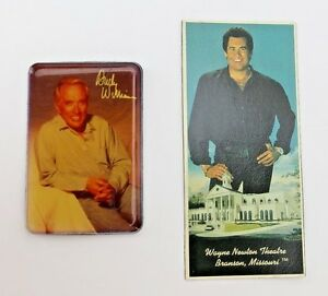 Vtg Refrigerator Magnets Wanye Newton / Williams Theatre Brandson, Missouri Sing