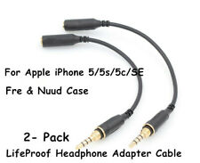 2x LifeProof Headphone Adapter Cable For iPhone 5/5s/5c/SE Fre & Nuud Case