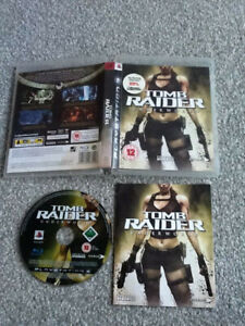 PLAYSTATION 3 GAME _ TOMB RAIDER : UNDERWORLD-LARA CROFT + MANUAL