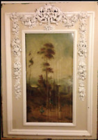 WHITE STAR LINE RMS OLYMPIC TITANIC 1ST CL STAIRCASE HUGE CARVED & PAINTED PANEL