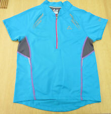 Dare 2b - Turquoise Short Sleeved Cycling Top with Back Pockets - size 9/10 yrs