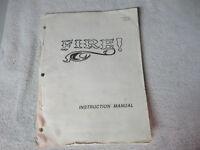 missing cover FIRE    ORIGINAL  WILLIAMS  pinball machine manual