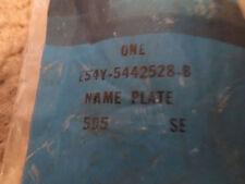 NOS 1985 1986 MERCURY MARQUIS TRUNK DECKLID EMBLEM NAMEPLATE E54Y-5442528-B NEW