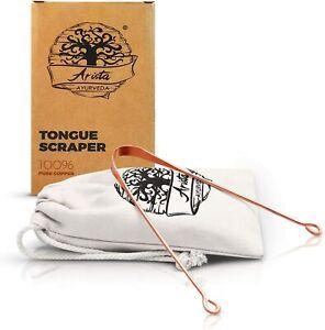 Copper Tongue Scraper   Naturally Anti-Microbial   Prevent Oral Health Diseases