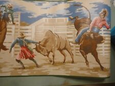Wallpaper Border Rolls Horses Rodeo Cowboys Rodeo Seabrook Western Lot of Two