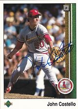 JOHN COSTELLO ST LOUIS CARDINALS SIGNED UPPER DECK CARD SAN DIEGO PADRES EXPOS