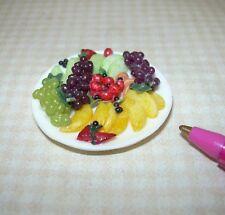 Miniature Falcon Colorful Assorted Fruit Platter: DOLLHOUSE Food 1/12
