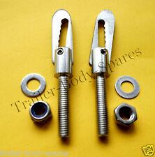FREE UK Post- 2 x Stainless Steel M8 x 38mm Antiluce Trailer Drop Catch Fastener