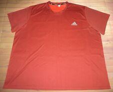 Adidas Climalite Essentials Tech Short Sleeve Ss Tee Shirt Mens Xxxl 3Xl Maroon