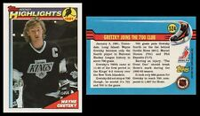 WAYNE GRETZKY 1991 HIGHLIGHT - TOPPS # 524 - HALL OF FAME - MT! - THE GREAT ONE