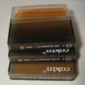 Three Cokin Orange Filters 85 A29, 85B A30, 85C A31 all with Cases