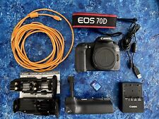 "Canon EOS 70D 20.2MP ""LOW shutter count (1%)"" Mint condition."