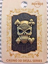 2017 HARD ROCK CAFE FOXWOODS 3D CASINO SKULL/PART OF A (9) PIN MINI SERIES