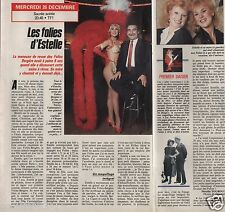 Coupure de presse Clipping 1990 Estelle meneuse aux Folies Bergères (1 page 1/2)