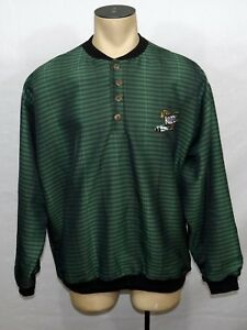 Vtg 90s Mens Team Kool Green Indy Car Racing green pullover jacket size Large