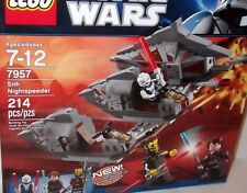 LEGO STAR WARS ✰ Sith Nightspeeder ✰ #7957 ✰NEW Factory Sealed CASE FRESH SHARP