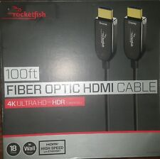 Rocketfish 100ft fiber optic HDMI Cable with Ethernet -4K Ultra Hd & HDR capable