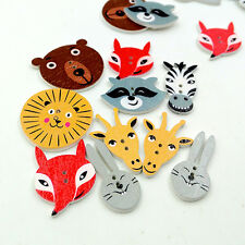 50Pcs Mixed Animal Scrapbooking Decor Sewing Accessories 2 Holes Buttons Cheaply