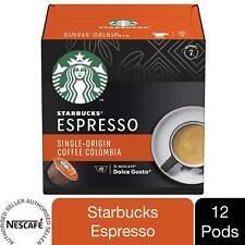 Nescafe Dolce Gusto Starbucks Coffee Pods Caps Box of 12 Colombia Espresso