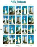 2009 Gulf Coast Lighthouses Sc 4409-4413 full MINT PANE of 20