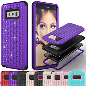 Shockproof Case For Samsung Galaxy Note 8 / 9 / 10 + Glitter Bling Bumper Cover