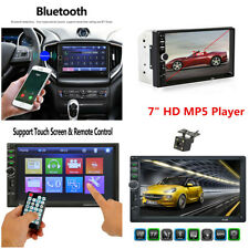 2 DIN 7inch HD Bluetooth Car Stereo Radio MP5 Player Touch Screen & Rear Camera