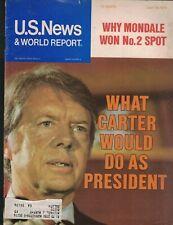Us News & World Report Magazine July 26 1976 Jimmy Carter Killer Bees
