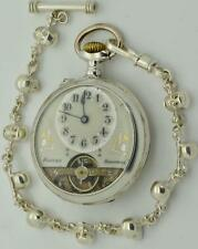 MUSEUM antique Victorian Memento Mori Skull Doctors silver Hebdomas 8 days watch