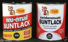 8,00-6,00€/L Tiger Buntlack 125ml - 2500ml Acryl Lack innen & außen 0,125 - 2,5l
