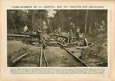 Canon Gun Grosse Bertha Artillery Deutsches Heer Bois du Châtelet Brécy 1918 WW