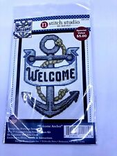 """Design Works WELCOME ANCHOR Counted Cross Stitch Kit 5"""" x 7"""""""