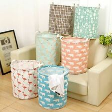 Foldable Laundry Hamper Clothes Basket Cotton Waterproof Washing Bag Storage
