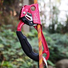 Left Hand Ascender Handled Rope Clamp Rock Tree Climbing Caving Arborist Gear