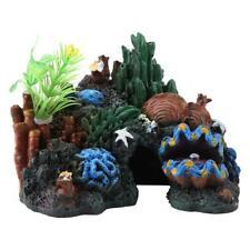 Aquarium Artificial Resin Coral Cave Reef Mountain Fish Tank Ornament Quarium