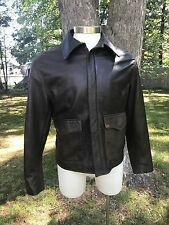 US WINGS SUPER SOFT INDY INDIANA JONES BROWN LEATHER JACKET Sz M
