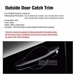 OEM Door Handle Catch Black Cover Trim Molding for HYUNDAI 2017-2018 Elantra AD