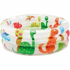 Colorful Round Inflatable White Cartoon Dinosaur Baby Toddler Size Swimming Pool