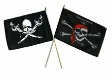 "12x18 12""x18"" Wholesale Combo Pirate Brethren Coast & Surrender Booty Stick Flag"