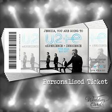 U2 eXPERIENCE INNOCENCE 2018 Tour Ticket Concert Wallet Card Birthday Invitation