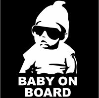 Baby on Board Car Sticker white