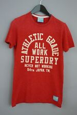 Hombre Superdry Camiseta Rojo Cuello Redondo Manga Corta Algodón Informal S