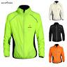 Men's Cycling Jacket Windproof Breathable Reflective Bike Coat Long Sleeve Tops