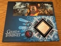 Game of Thrones™ Stamp Sheet Medal Cover - Silver Proof House of Stark
