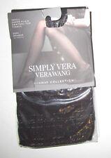 SIMPLY VERA VERA WANG~SIZE 1~Women's Black Small Scale Plaid Semi Opaque Tights