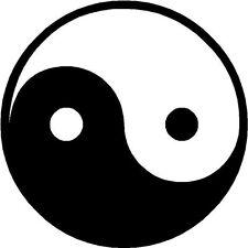 Yin Yang Circle Round Logo Sticker Decal Graphic Vinyl Label Black