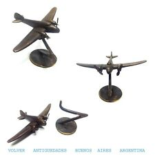Interesting old small tiny desk bronze airplane car mascot