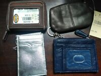 Lot of 4 Coin Purses, ID Holders/Wallets - NEW Fossil New York & Co.