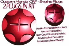Honda Trx 450r Trx450 Trx450r Billet Aluminum Anodized Engine Plug Kit RED 04-14